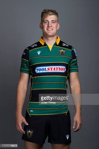 Alex Coles of Northampton Saints poses for a portrait during the Northampton Saints squad photocall for the 20192020 Gallagher Premiership Rugby...