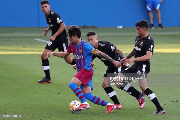 Alex Collado during the friendly match between FC Barcelona and Club Gimnastic de Tarragona, played at the Johan Cruyff Stadium on 21th July 2021, in...