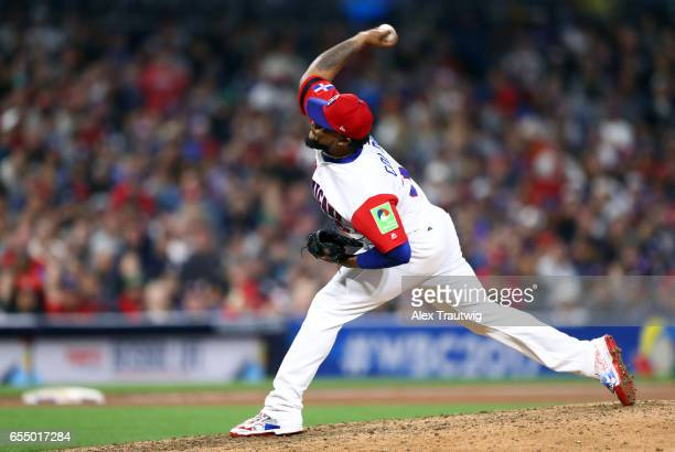 Alex Colome of Team Dominican Republic pitches during Game 6 of Pool F of the 2017 World Baseball Classic against Team USA on Saturday March 18 2017...