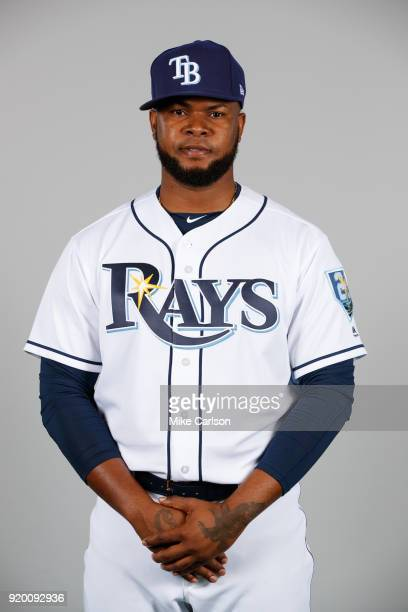 Alex Colome of the Tampa Bay Rays poses during Photo Day on Sunday February 18 2018 at Charlotte Sports Park in Port Charlotte Florida
