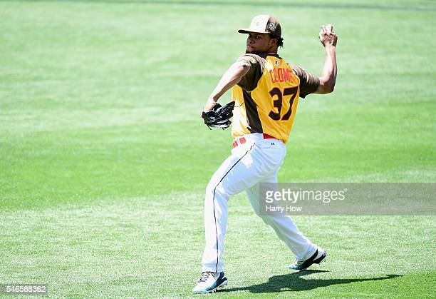 Alex Colome of the Tampa Bay Rays warms up prior to the 87th Annual MLB AllStar Game at PETCO Park on July 12 2016 in San Diego California