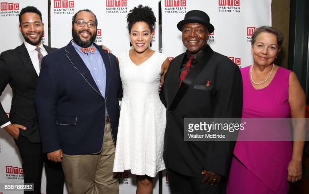 Alex Cooper Eddie Cooper Lilli Cooper Chuck Cooper and Deborah Brevoort attend the Broadway Opening Night After Party for 'Prince of Broadway' at...