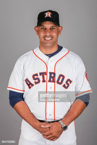 Alex Cora of the Houston Astros poses during Photo Day on Sunday February 19 2017 at the Ballpark of the Palm Beaches in West Palm Beach Florida