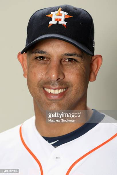 Alex Cora of the Houston Astros poses for a portrait during Houston Astros Photo Day at The Ballpark of the Palm Beaches on February 19 2017 in West...