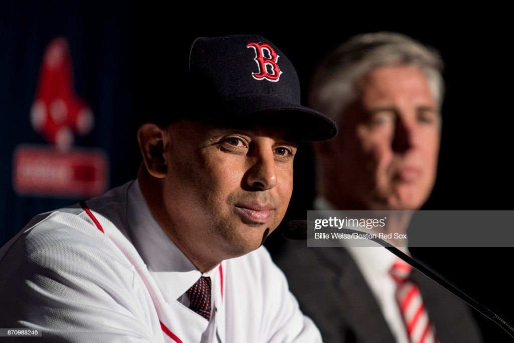 Boston Red Sox Introduce Alex Cora - News Conference : News Photo