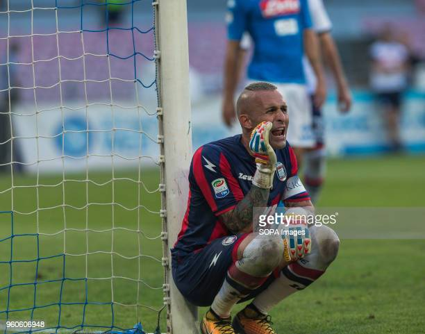 STADIUM NAPLES CAMPANIA ITALY Alex Cordaz of Crotone reacts during the Serie A football match between SSC Napoli and FC Crotone at San Paolo Stadium