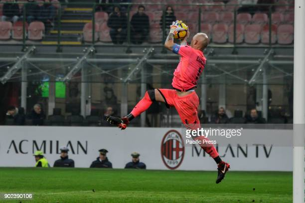 Alex Cordaz of FC Crotone during Serie A football AC Milan versus Crotone AC Milan wins the match again FC Crotone for 1 to 0