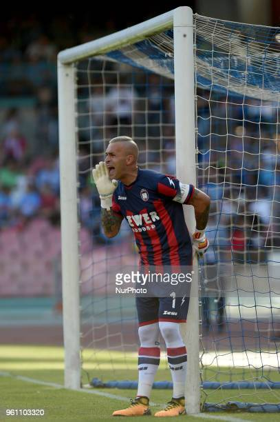 Alex Cordaz of FC Crotone during the Serie A TIM match between SSC Napoli and FC Crotone at Stadio San Paolo Naples Italy on 20 May 2018