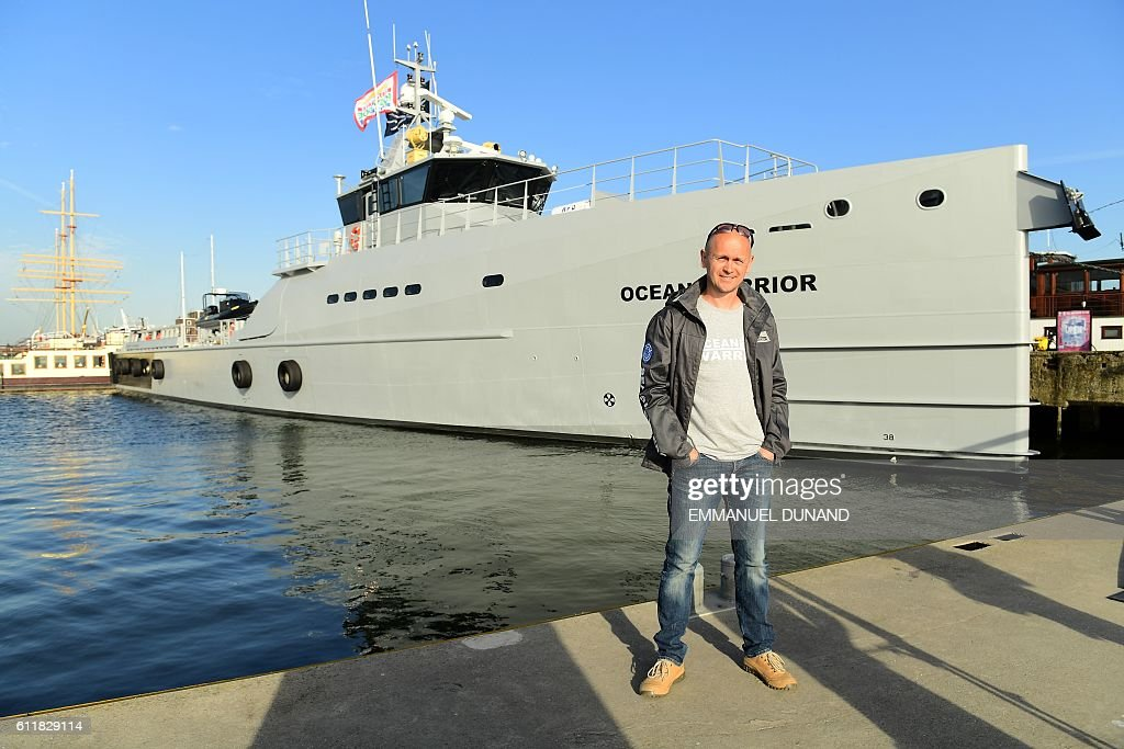 Alex Cornelissen, chief executive of Sea Shepherd Global, poses in