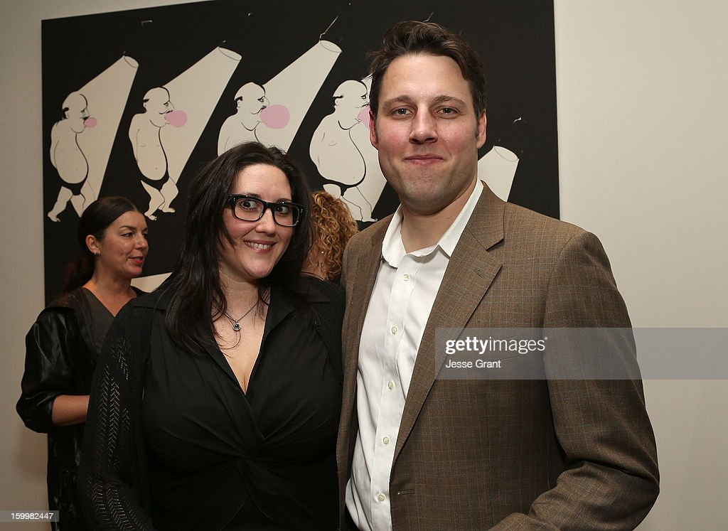 Alex Couri and Tim Fleming attend the Art Los Angeles Contemporary Reception at the home of Gail and Stanley Hollander on January 23, 2013 in Los Angeles, California.