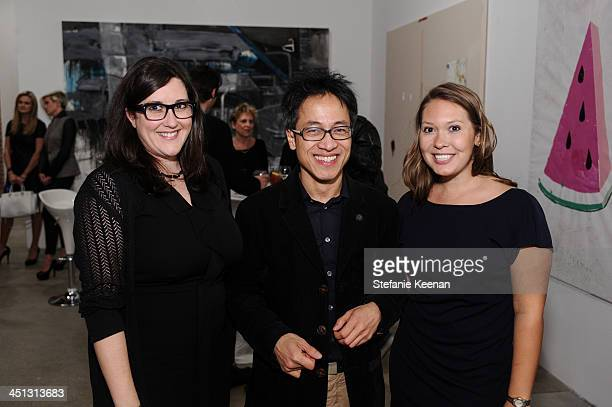 Alex Couri, Quang Bao and Julie Butash attend The Rema Hort Mann Foundation LA Artist Initiative Benefit Auction on November 21, 2013 in Los Angeles,...