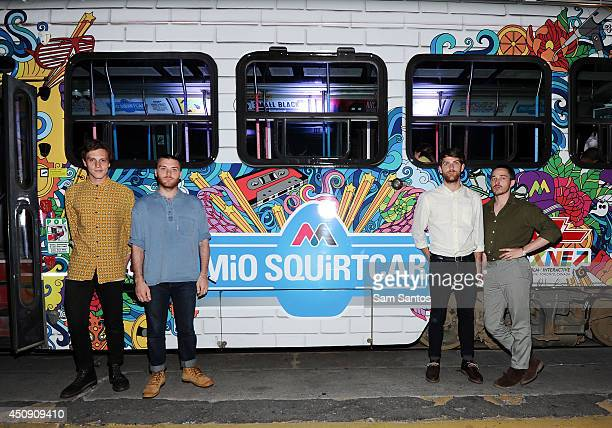 Alex Crosby Alex Knight Rob Walters and Thomas Savage of Kins attend the NXNE MiO Squirtcar Day 2 on June 19 2014 in Toronto Canada
