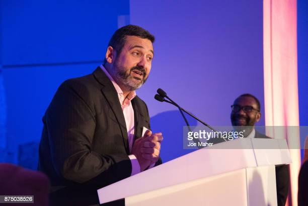 Alex Cruz speaks at a British Airways event celebrating the airline raising GBP17 million for Comic Relief through its Flying Start Partnership at...