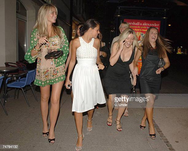 Alex Curran and Toni Poole at the England Players Wives and Girlfriends Enjoy a Night Out at Restaurant and Local Bar June 29 2006 at Brenner Park...