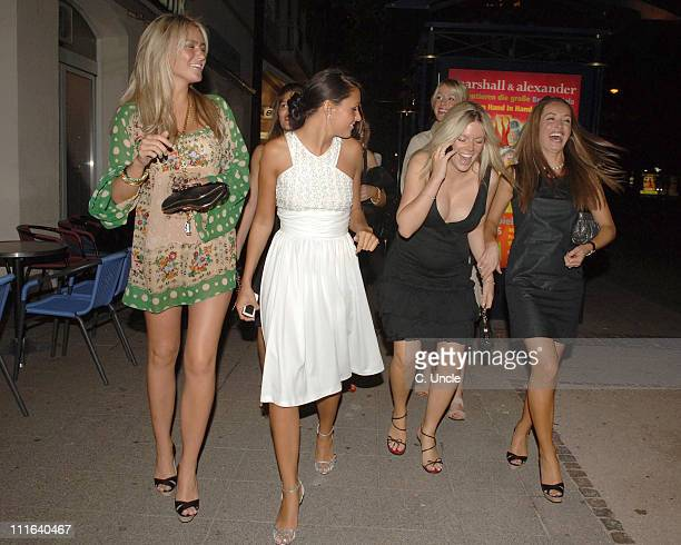 Alex Curran and Toni Poole during England Players Wives and Girlfriends Enjoy a Night Out at Restaurant and Local Bar June 29 2006 at Brenner Park...