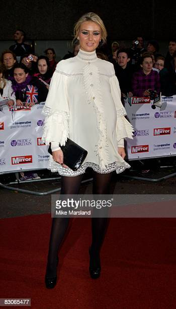 Alex Curran arrives at the Pride of Britain Awards at the London Television Centre on September 30 2008 in London England
