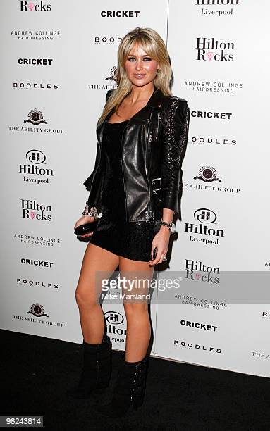 Alex Curran attends the Launch Party for Hilton Liverpool on January 28 2009 in Liverpool England