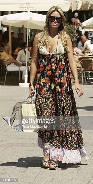 Alex Curran wife of England footballer Steven Gerrard walks to her hotel on June 23 2006 in BadenBaden Germany England will play Ecuador on 25 June...