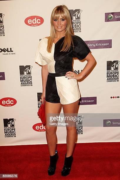 Alex Curran wife of footballer Steven Gerrard arrives for the MTV Europe Music Awards held at the Echo Arena on November 6 2008 in Liverpool England