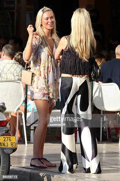 Alex Curran wife of footballer Steven Gerrard is seen on August 2 2009 in St Tropez France