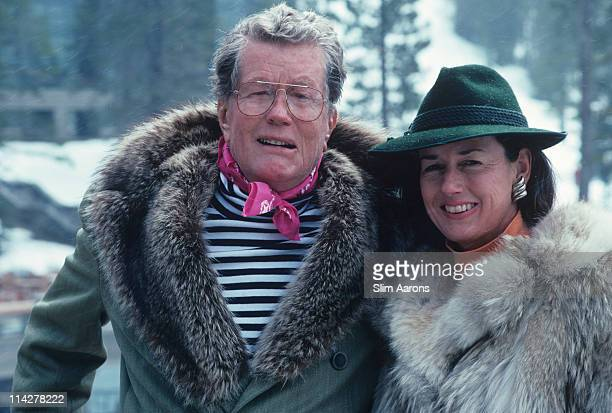 Alex Cushing and his wife Nancy at the Squaw Valley Ski Resort one of the largest ski areas in the United States in Olympic Valley California USA...