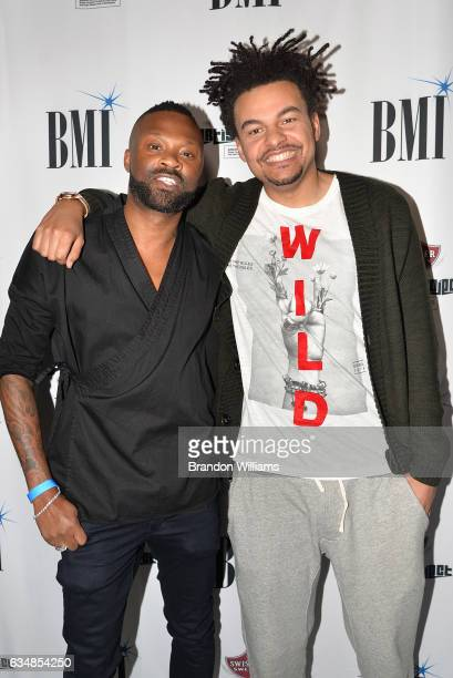 Alex da Kid and associate attend BMI's How I Wrote That Song panel at 1OAK on February 11 2017 in West Hollywood California