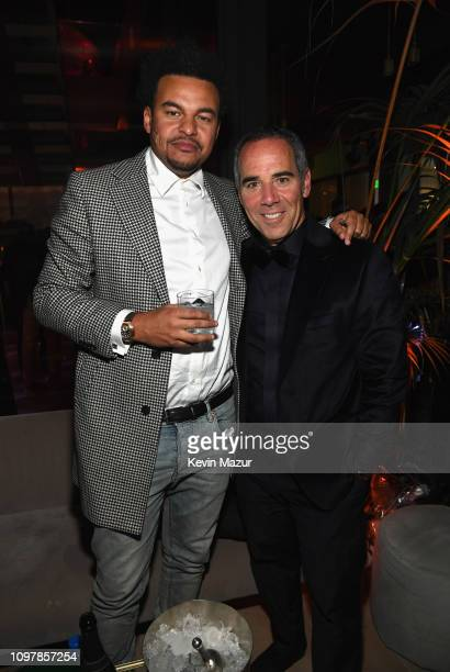 Alex da Kid and CEO of Republic Records Monte Lipman during Republic Records Grammy after party at Spring Place Beverly Hills on February 10 2019 in...