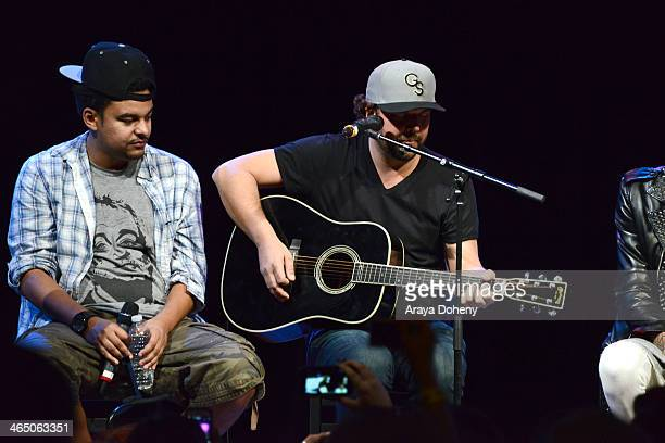 Alex Da Kid and Dallas Davidson at BMI's How I Wrote That Song panel at House of Blues on January 25 2014 in West Hollywood California