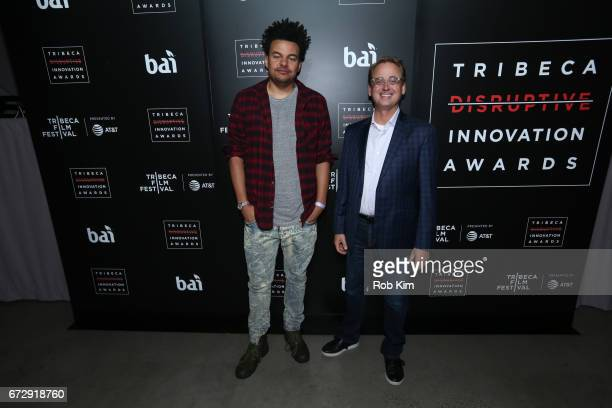 Alex da Kid and David Kenny attend the TDI Awards during the 2017 Tribeca Film Festival at Spring Studios on April 25 2017 in New York City