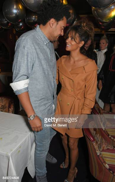 Alex da Kid and Halle Berry attend the LOVE magazine x Miu Miu party held during London Fashion Week at Loulou's on September 18 2017 in London...