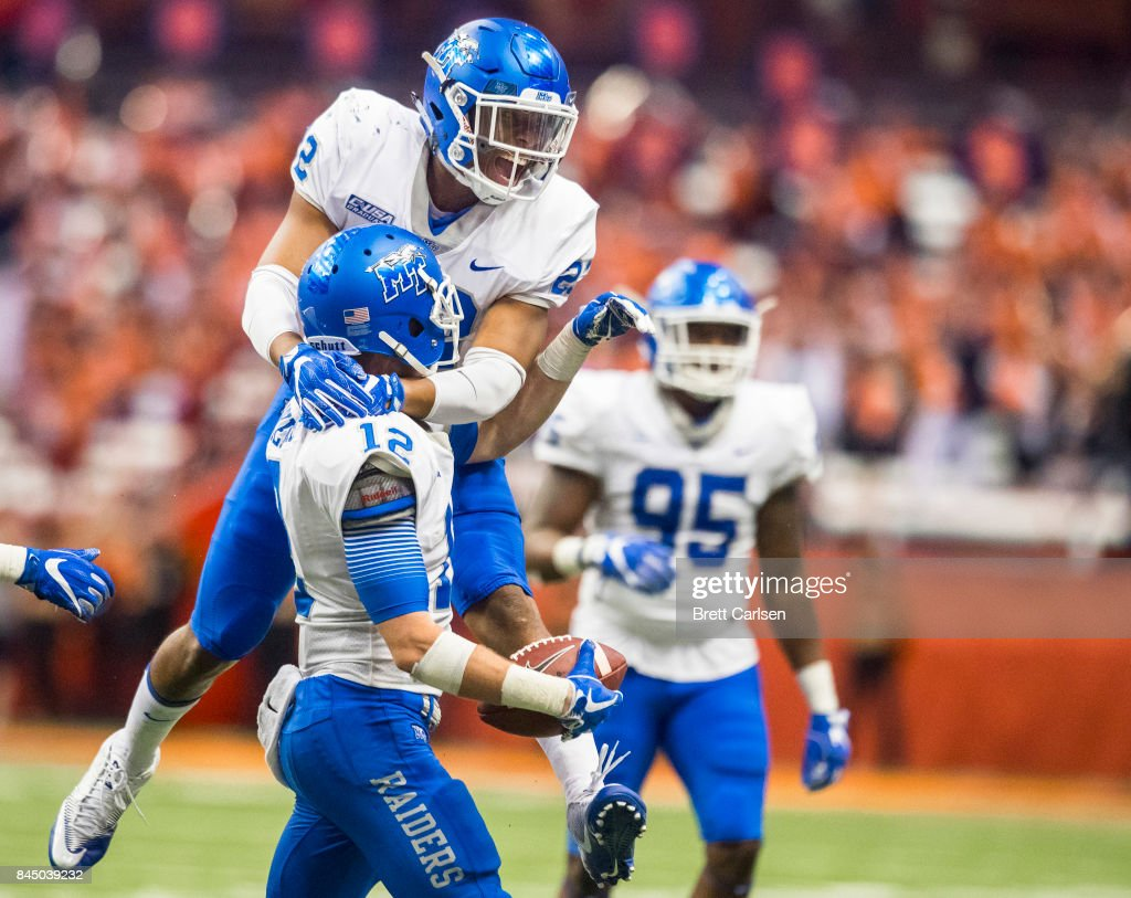 Middle Tennessee v Syracuse : News Photo