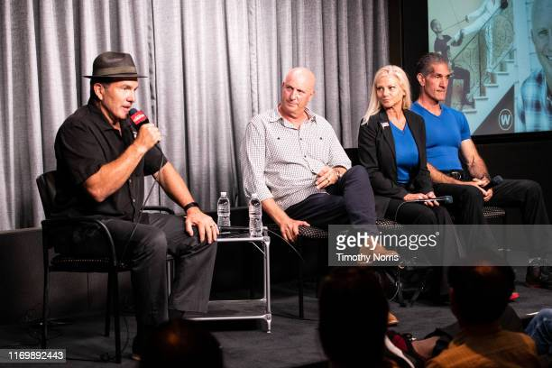 Alex Daniels Charlie Brewer Julie Michaels and Peewee Piemonte speak during SAGAFTRA Foundation Conversations Emmy Nominated Stunt Performers at...
