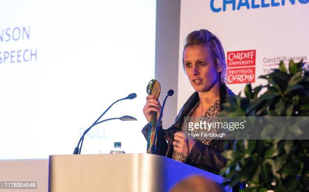 Alex Danson MBE showing her Olympic Gold Medal as she talked about her hockey career and recovery from her head injury at the Dell Technologies...