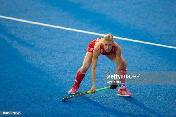 Alex Danson of England in action during the Pool B game between USA and England of the FIH Womens Hockey World Cup at Lee Valley Hockey and Tennis...