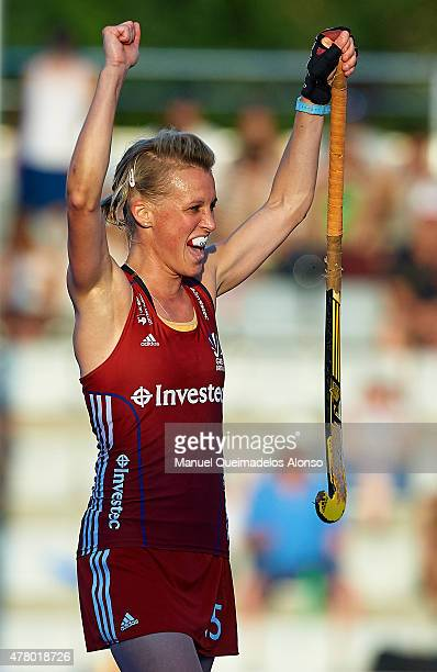 Alex Danson of Great Britain celebrates the winning after the end of the match between Great Britain and China at Polideportivo Virgen del Carmen...