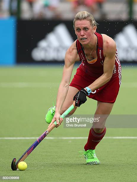 Alex Danson of Great Britain in action during the Pool B match between Australia and Great Britain on day four of the Hockey World League Final...