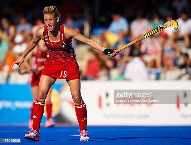 Alex Danson of Great Britain reacts during the match between Great Britain and China at Polideportivo Virgen del Carmen during day eight of the...