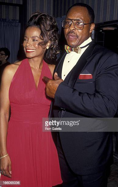Alex Datcher and Roger E Mosley attend First Annual Minority Motion Picture Awards on September 10 1993 at the Wiltern Theater in Los Angeles...