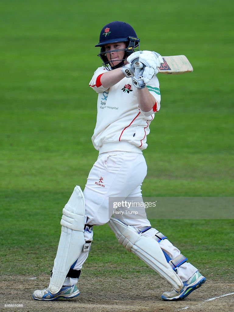 Alex Davies of Lancashire bats during Day Three of the Specsavers County Championship Division One match between Somerset and Lancashire at The Cooper Associates County Ground on September 14, 2017 in Taunton, England.