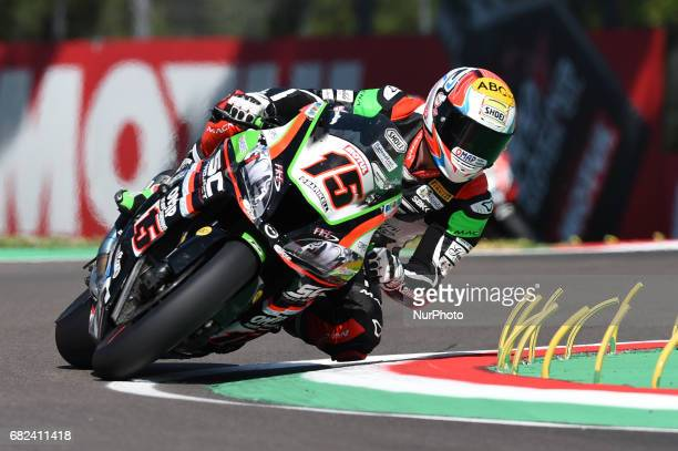 Alex de Angelis Kawasaki ZX10RR Pedercini Racing SC Project during the Superbike race during the World Superbikes Race at Enzo amp Dino Ferrari...