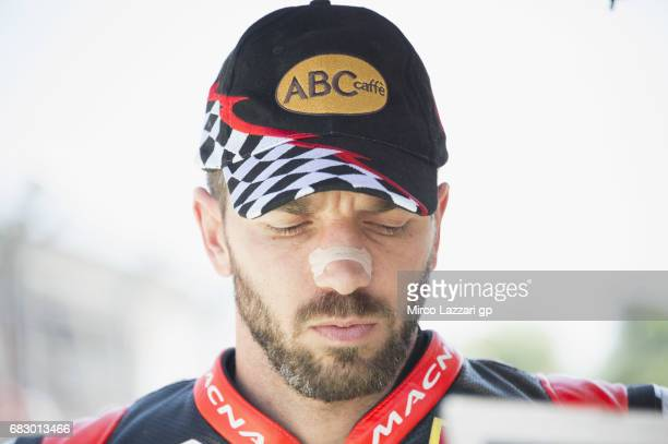 Alex De Angelis of Rep San Marino and Pedercini Racing prepares to start on the grid during the Race 2 during the FIM Superbike World Championship...
