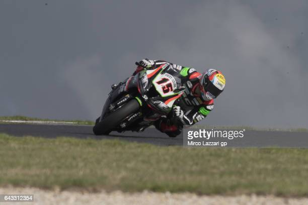 Alex De Angelis of Rep San Marino and Pedercini Racing rounds the bend during the 2017 World Superbikes Tests In Phillip Island at Phillip Island...