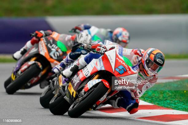 Alex De Angelis of San Marino and Octo Pramac MotorE during the MotoGp of Austria MotorE Race at Red Bull Ring on August 11 2019 in Spielberg Austria