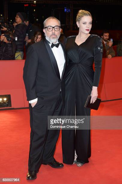 Alex de la Iglesia and Carolina Bang attend the 'The Bar' premiere during the 67th Berlinale International Film Festival Berlin at Berlinale Palace...
