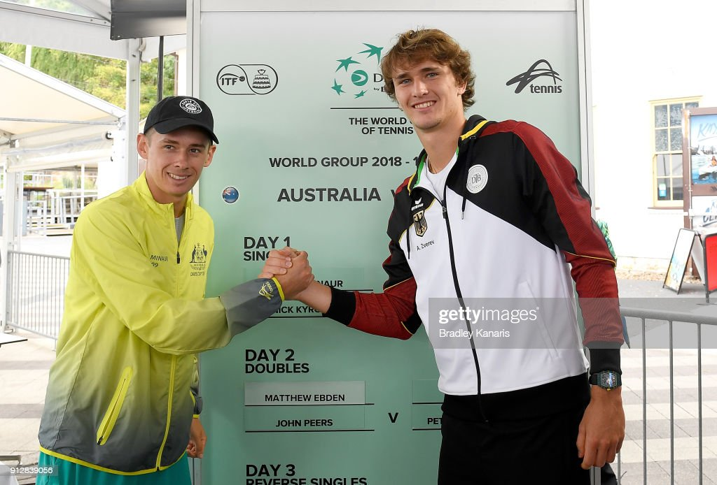 Official Draw: Davis Cup World Group First Round - Australia v Germany : News Photo