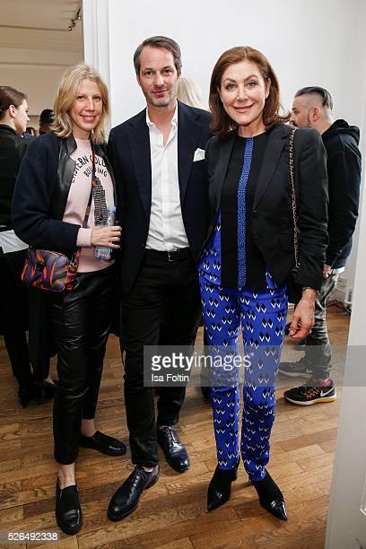 Alex Degel Marcus Kurz and Alexandra von Rehlingen at 'Der Berliner Fotografie Salon Edition 1' on April 29 2016 in Berlin Germany