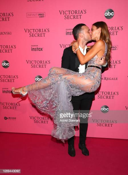 Alex DeLeon and Josephine Skriver attends the 2018 Victoria's Secret Fashion Show After Party on November 8 2018 in New York City