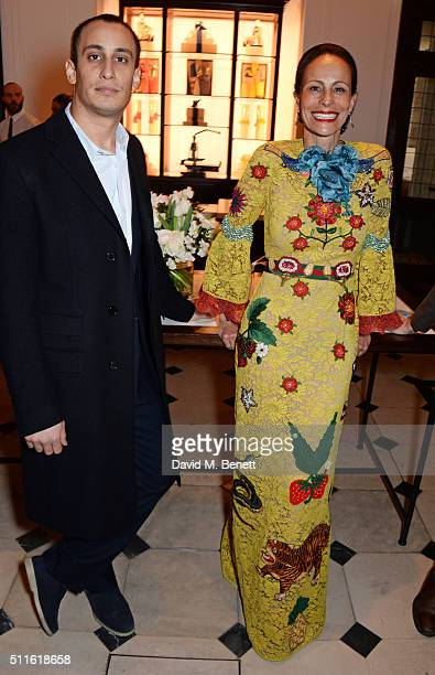 Alex Dellal and Andrea Dellal attend as mytheresacom and Burberry celebrate the new MYT Woman at Thomas's on February 21 2016 in London England