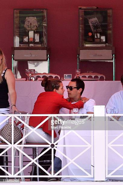 Alex Dellal and Charlotte Casiraghi are spotted during the '30th International Cannes Jumping' Global Champion Tour 2011 on June 11 2011 in Cannes...