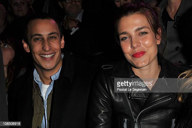 Alex Dellal and Charlotte Casiraghi attend the Etam Fashion Show Spring/Summer 2011 Collection Launch at Grand Palais on January 24 2011 in Paris...